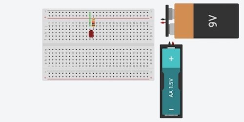 battery options for led circuit