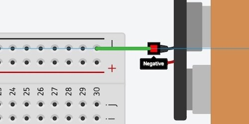 connecting battery to breadboard with jumper wire