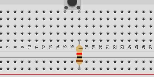 repositioned resistor on breadboard