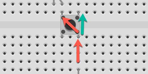 current flow through push button diagram