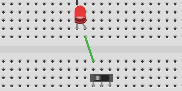 LED circuit closed with switch