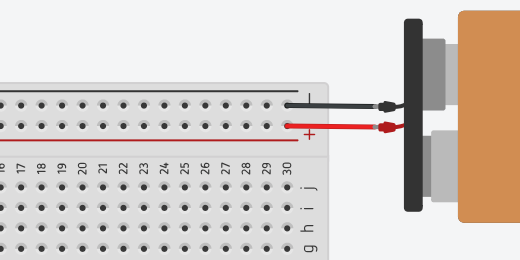connect a 9-volt battery to the breadboard
