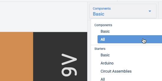 Go to the all components section