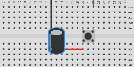 capacitor connected to circuit