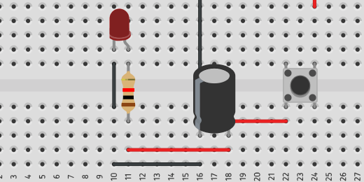resistor and jumper wire to complete circuit