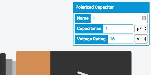 capacitor configuration panel