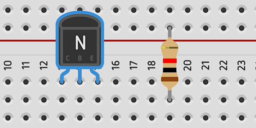 collector, base, and emitter on transistor