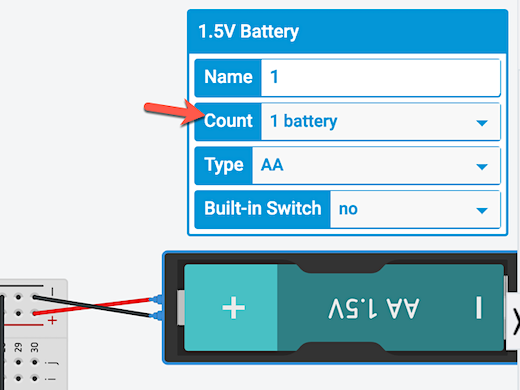 increase battery count option