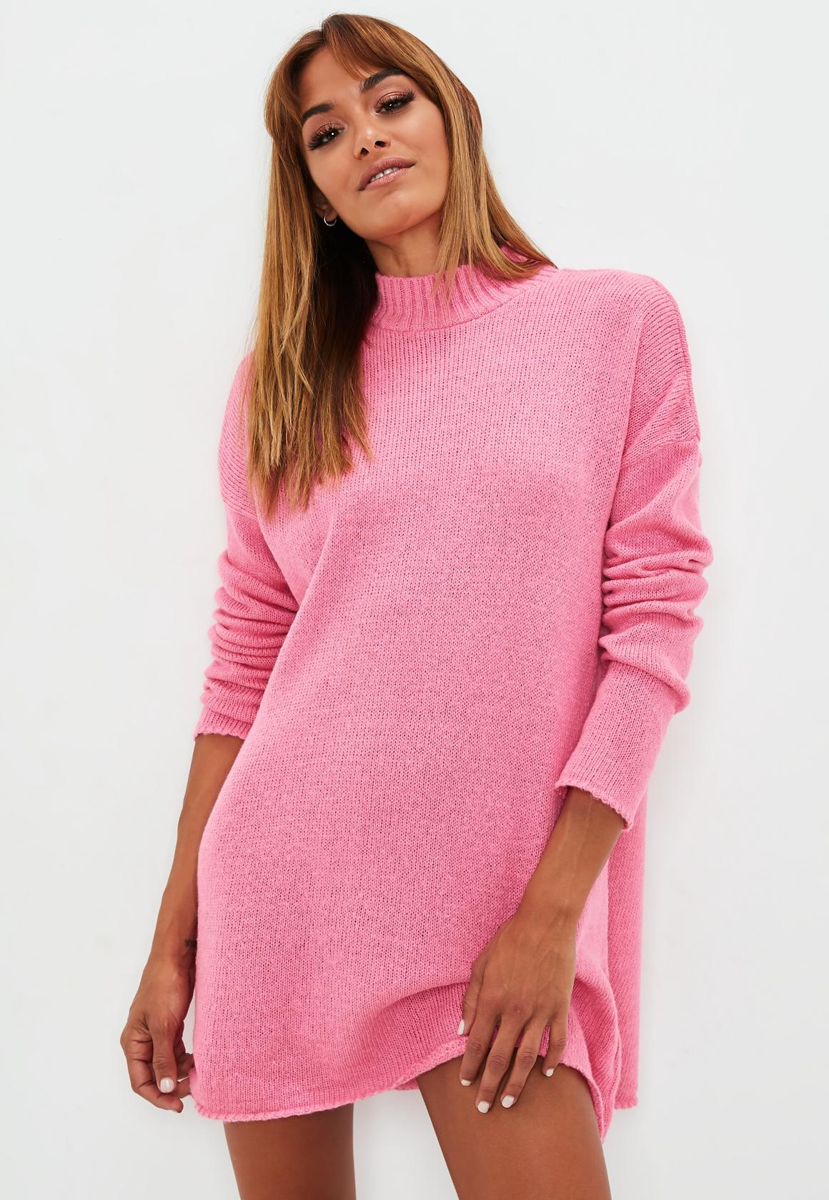 hot-pink-high-neck-slouchy-sweater-dress.jpg