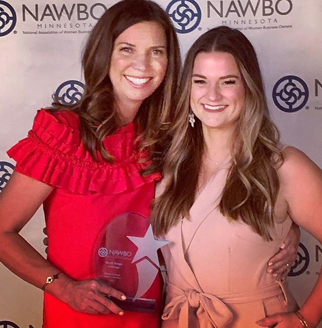 celebrated my mentor tonight... #NAWBO Women Business Owner of the Year! So so proud, and inspired by this woman and the other amazing winners. . . thank you for making me feel pretty @joyful.hair and @blushbykayboutique