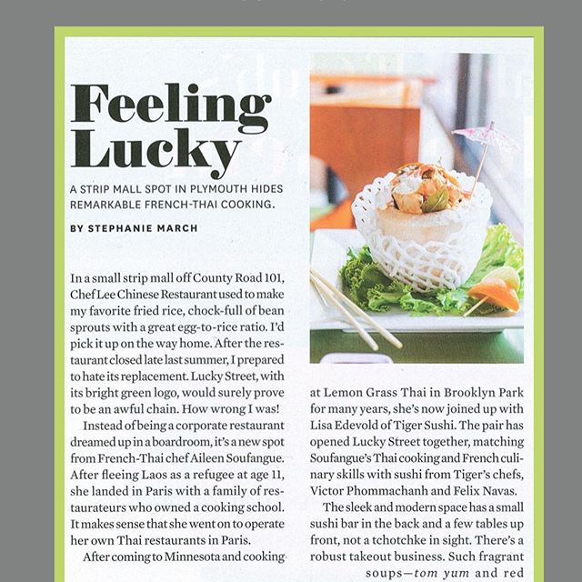 We're the lucky ones! My in-laws' new Thai/French fused restaurant, and executive chef Aileen Soufangue are receiving well-deserved praise from @mspmag! Read the full review on the blog. . . . . www.crockpotscroptops.com . . . . #blogger #mnblogger #midwestblogger #minneapolisbloggers #thebloggerunion #thaifood #french #frenchfood #foodie #curry