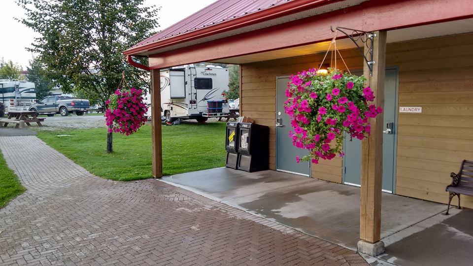 Campground Shower House and Flowers.jpg