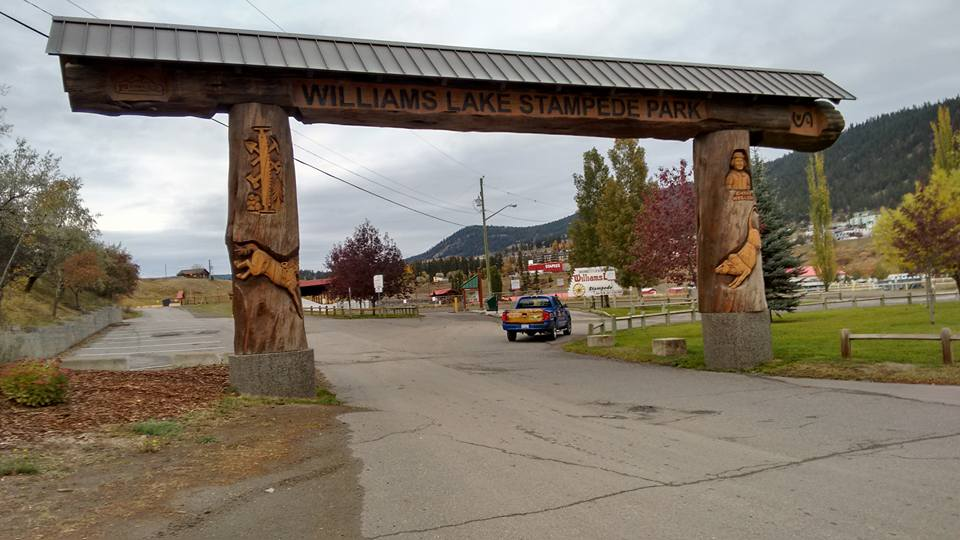 Williams Lake Stampede Campground Entrance to Stampede Park and Campground Truck.jpg