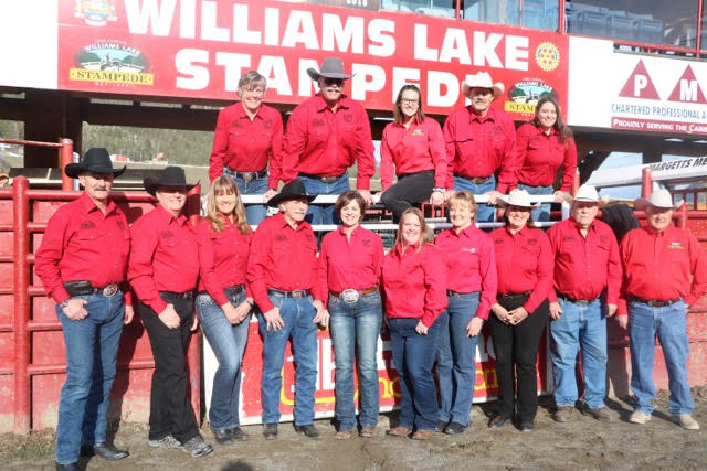 2019 Williams Lake Stampede Association - Board of Directors     BACK ROW: Susan Rolph, Tim Rolph, Ellis Smith, Louis Seelhof, Leah McAllister    FRONT ROW: Al Smith, Court Smith, Pauline Colgate Smith, Lionel Burnier, Ellie Seelhof, Courtney Jones, Cindy Brady, Patti Gerhardi, Bruce Lennox, Fred Thomas    Not Pictured: Willie Crosina, Wendell McKnight