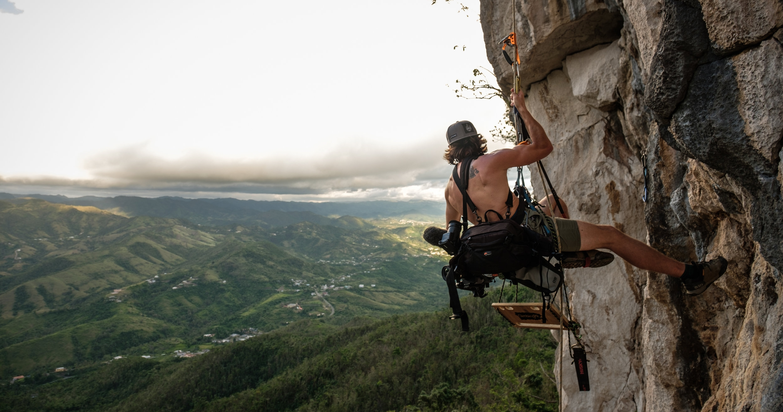 I (DOM) like to dangle off cliffs with a camera where appropriate, -