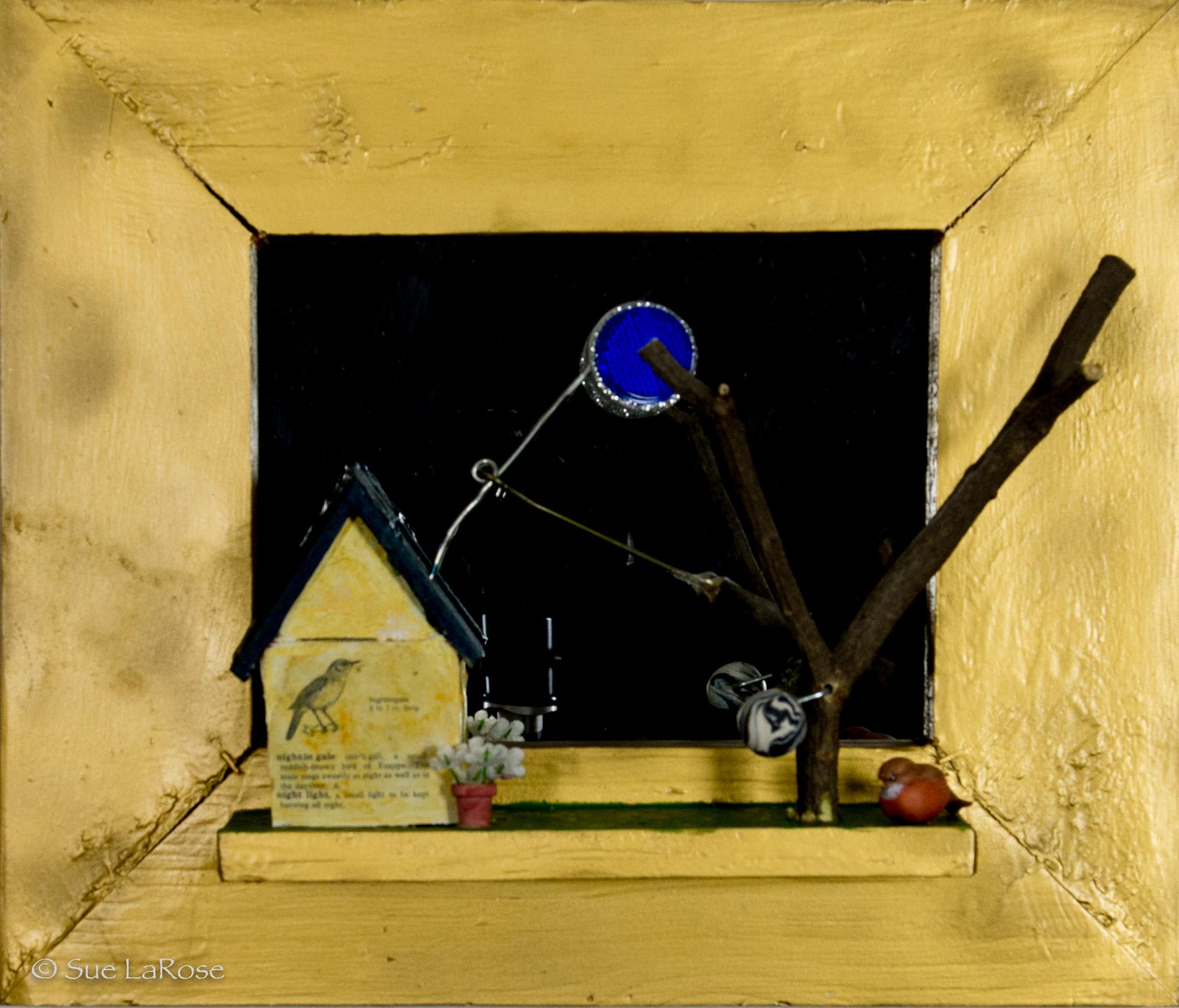 BLUE MOON RISING, 14x17x5, mixed mediaby Stephen & Bev Glueckert -
