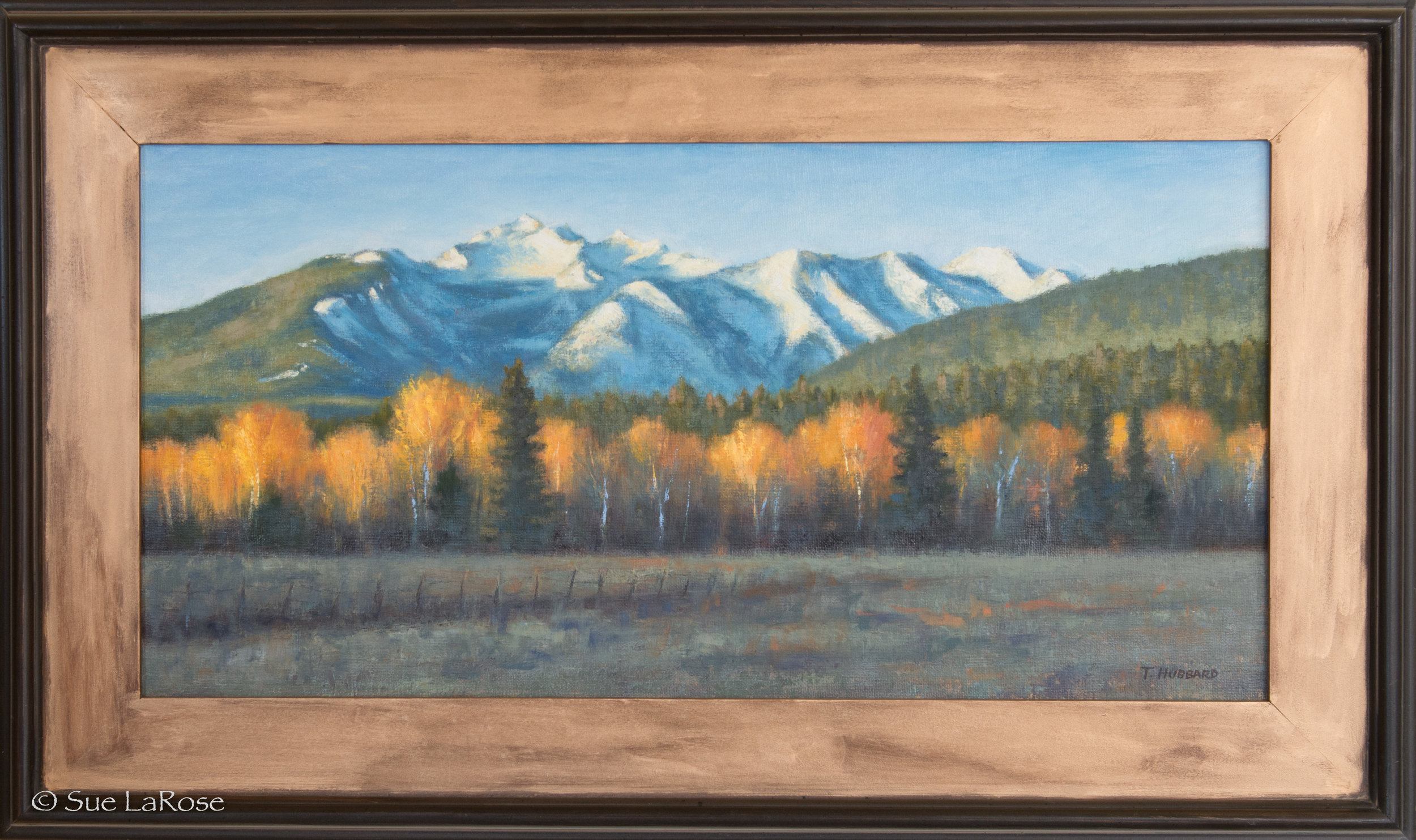 THREE SISTERS AT DAWN, 30x18, oil on canvas by Tracie Hubbard -