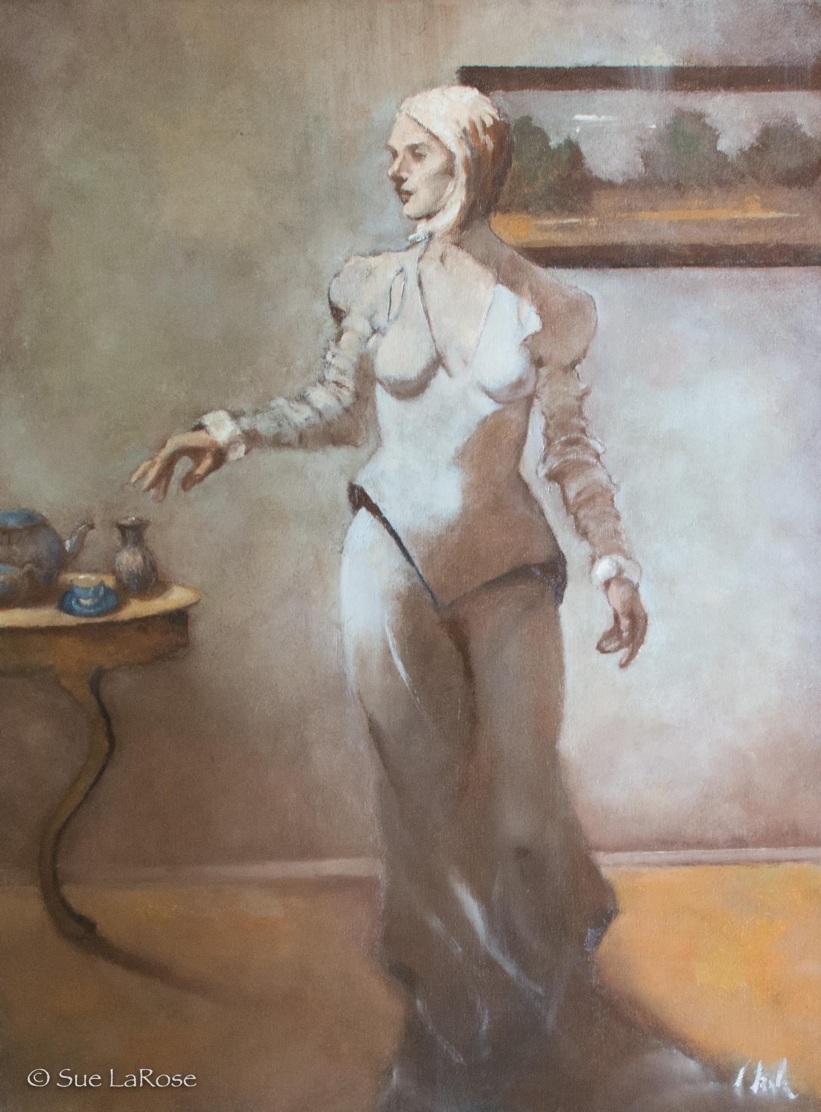 ETUDE, oil on canvasby Linda Leslie -