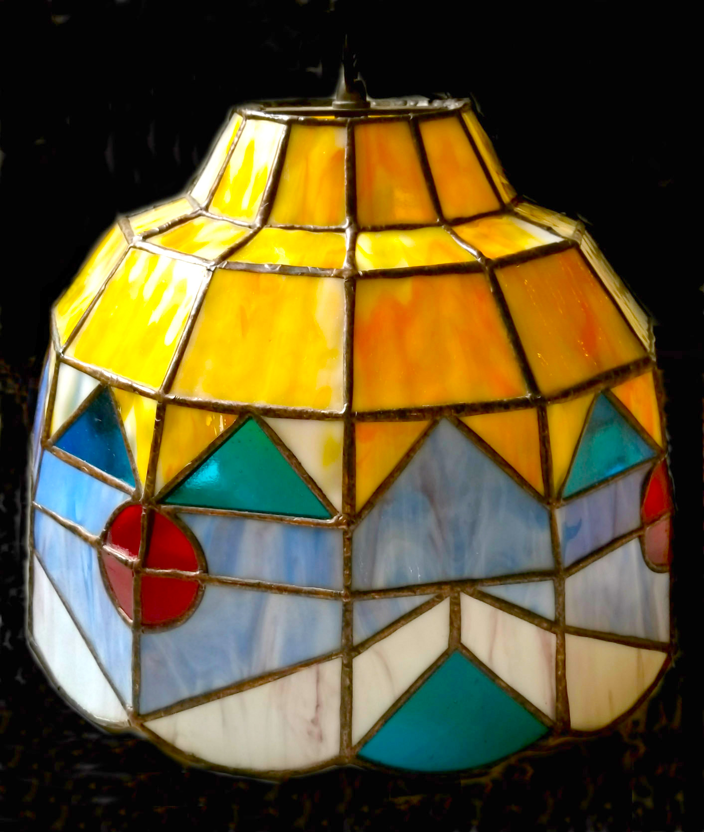UNTITLED, 24X24, mixed media lamp by Dennis Lippert -