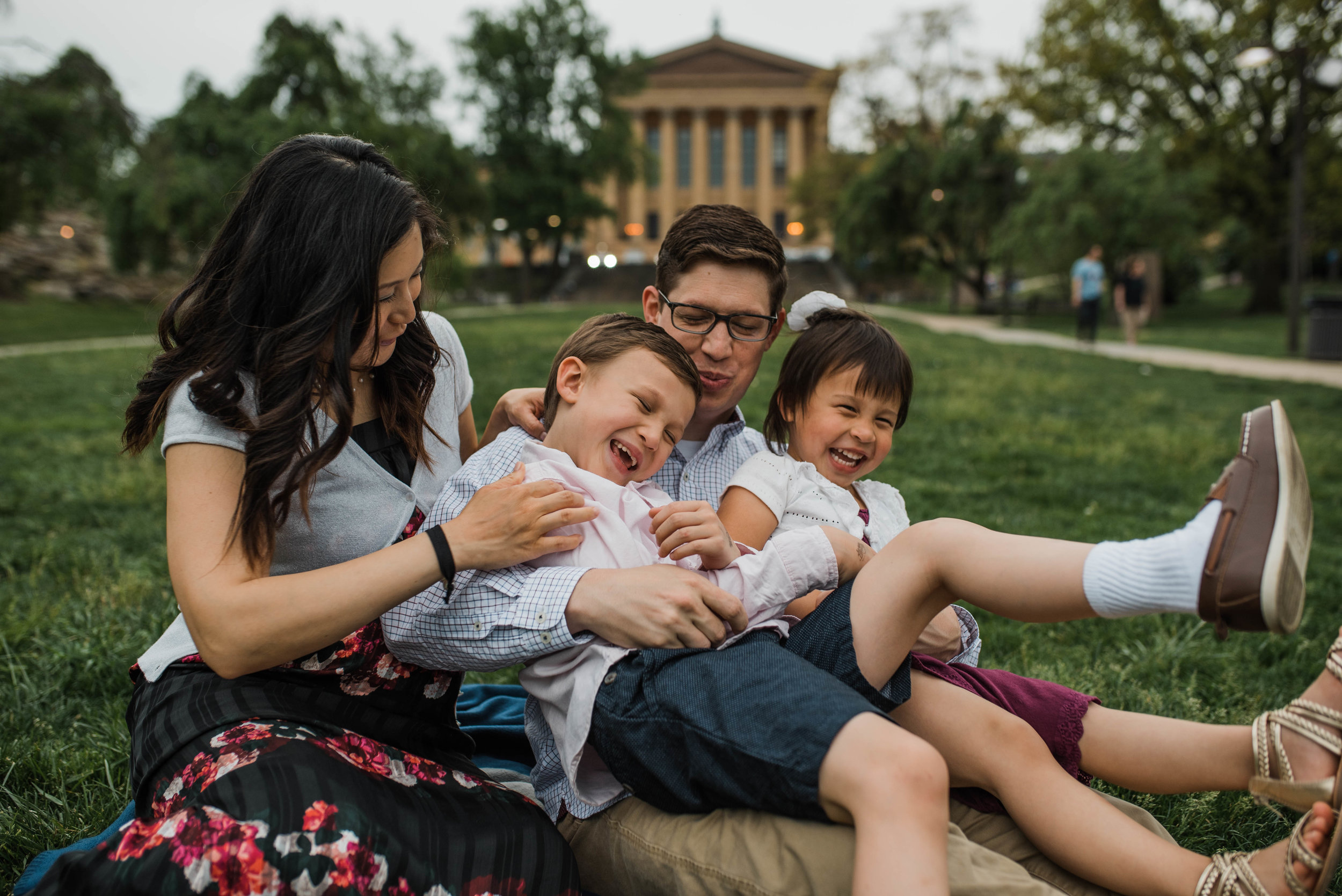 Art Museum Family Photo Session
