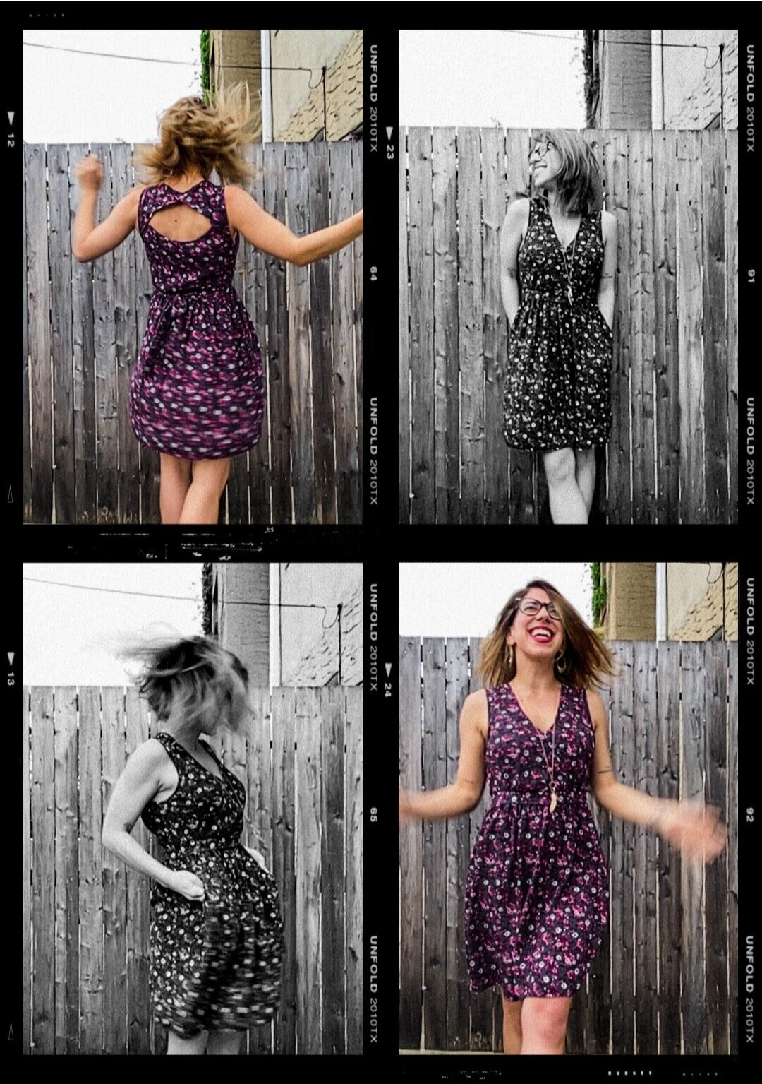 FaceTime Photos of a woman dancing in the wind