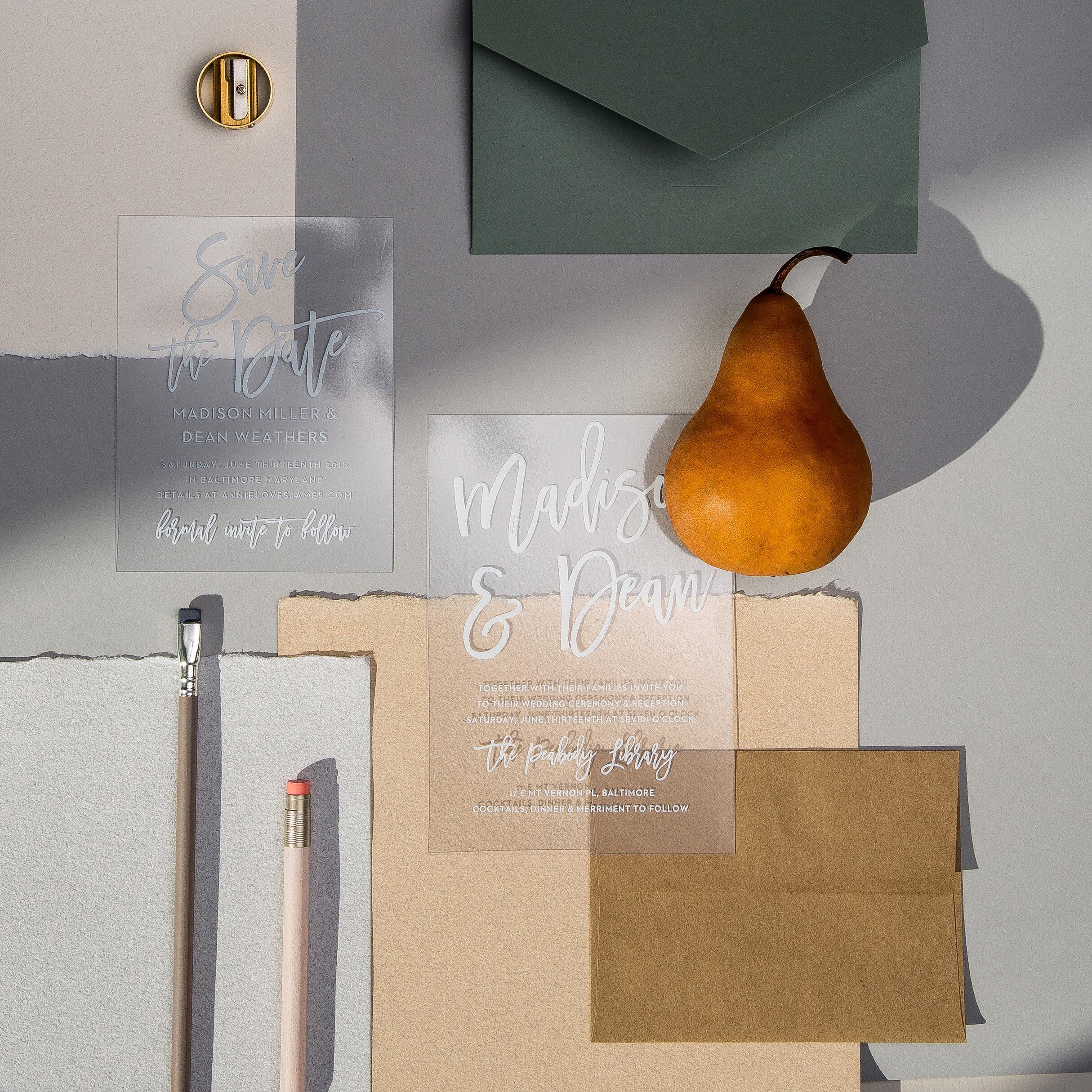 Customizable wedding invitations