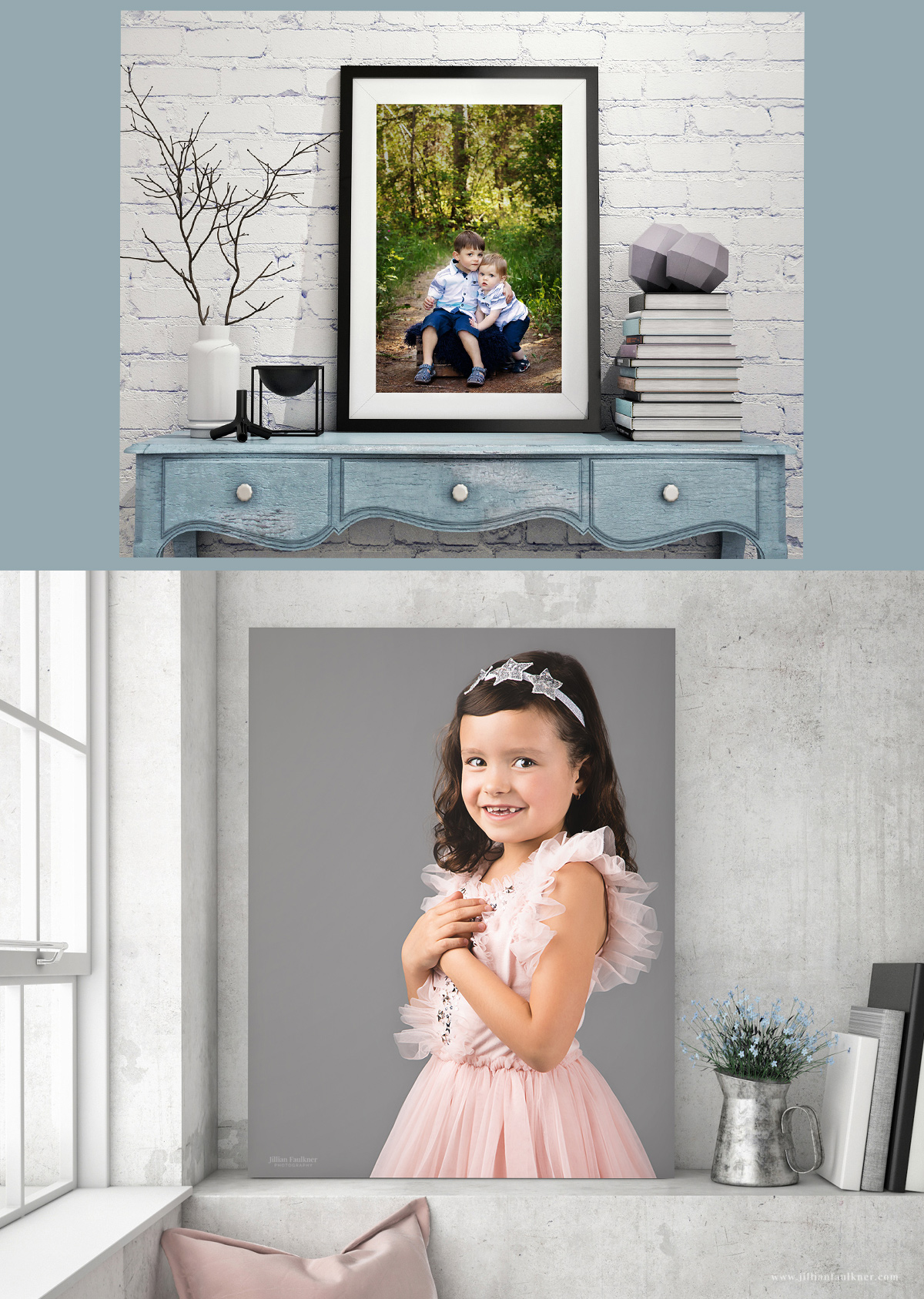 Jillian Faulkner Photography is a fully licensed and insured portrait photography studio in Calgary, Alberta that offers family, child, baby, newborn and maternity photography sessions. Jillian is passionate about printed wall portraits and exceptional customer service.