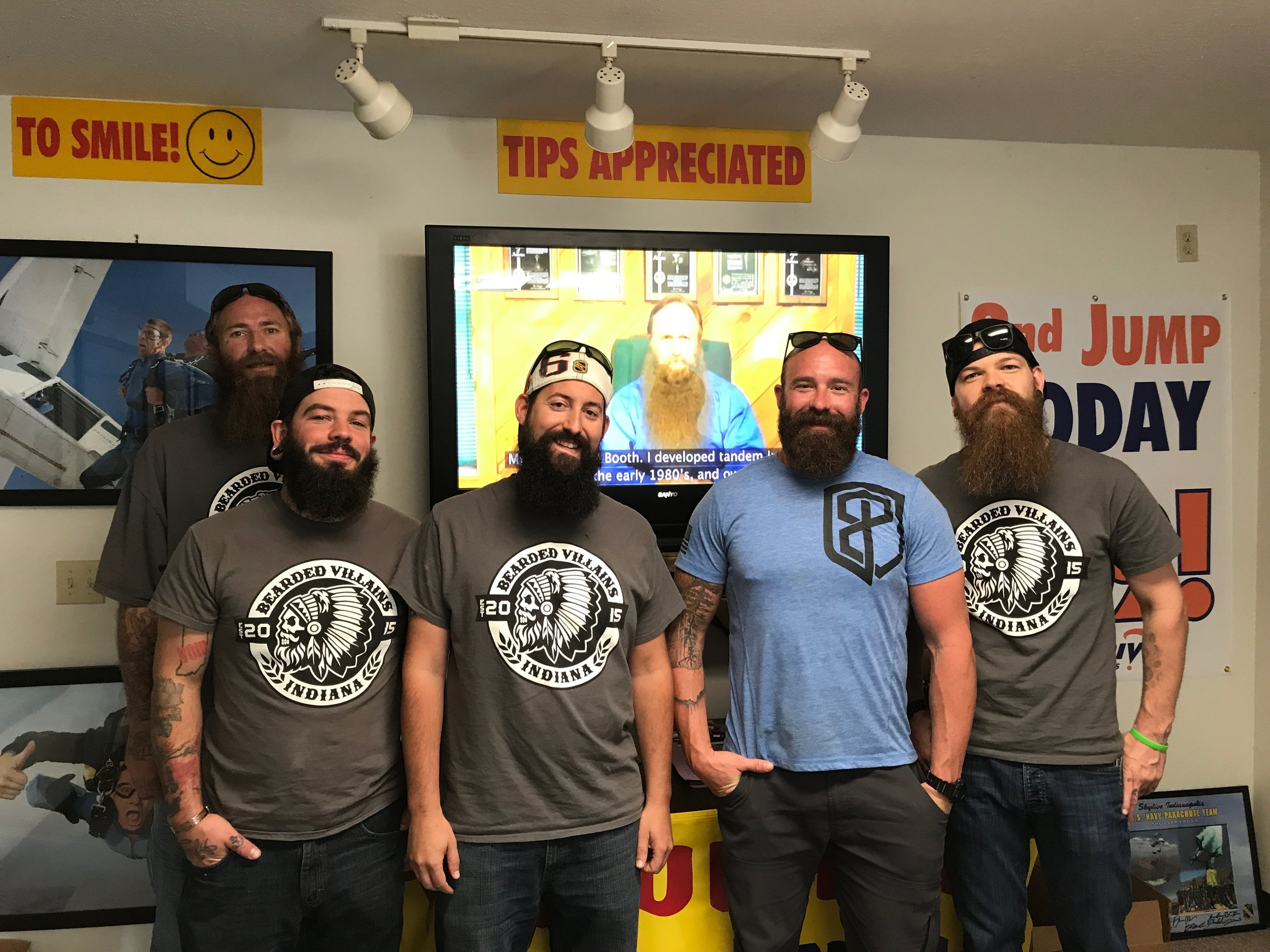 Bearded Villains at Skydive Indianapolis