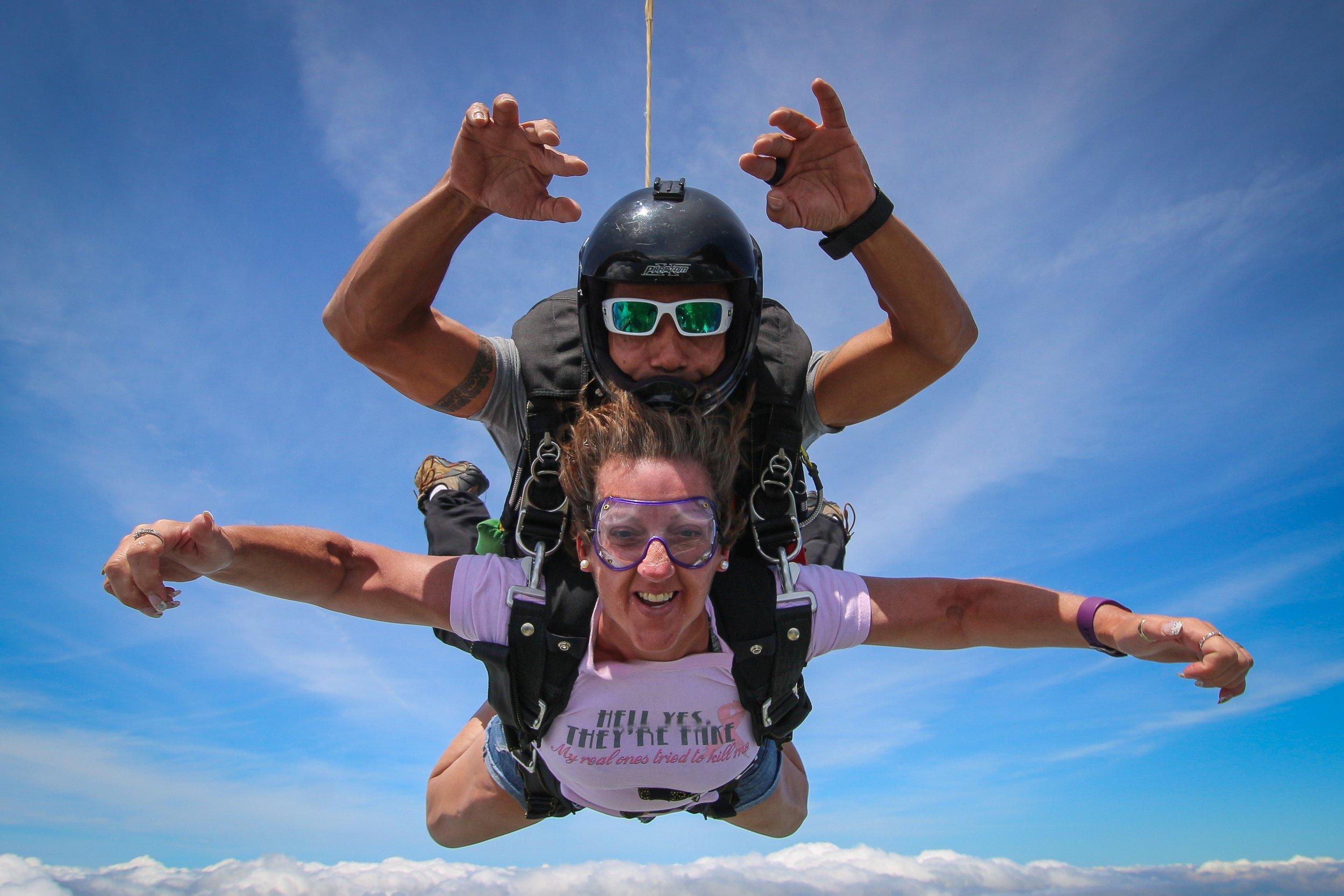 Stephanie In free fall