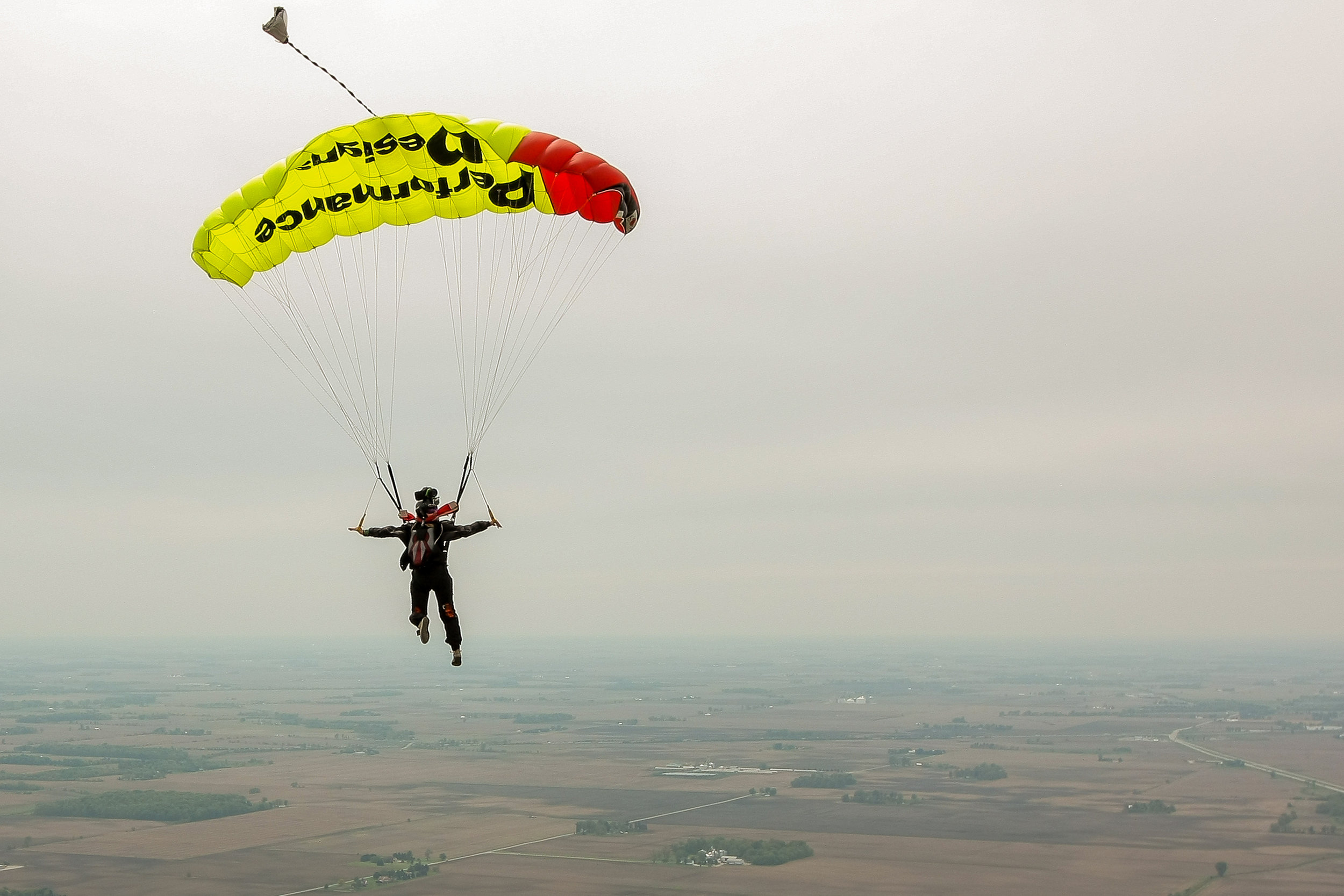 Skydive Videographer Under Canopy