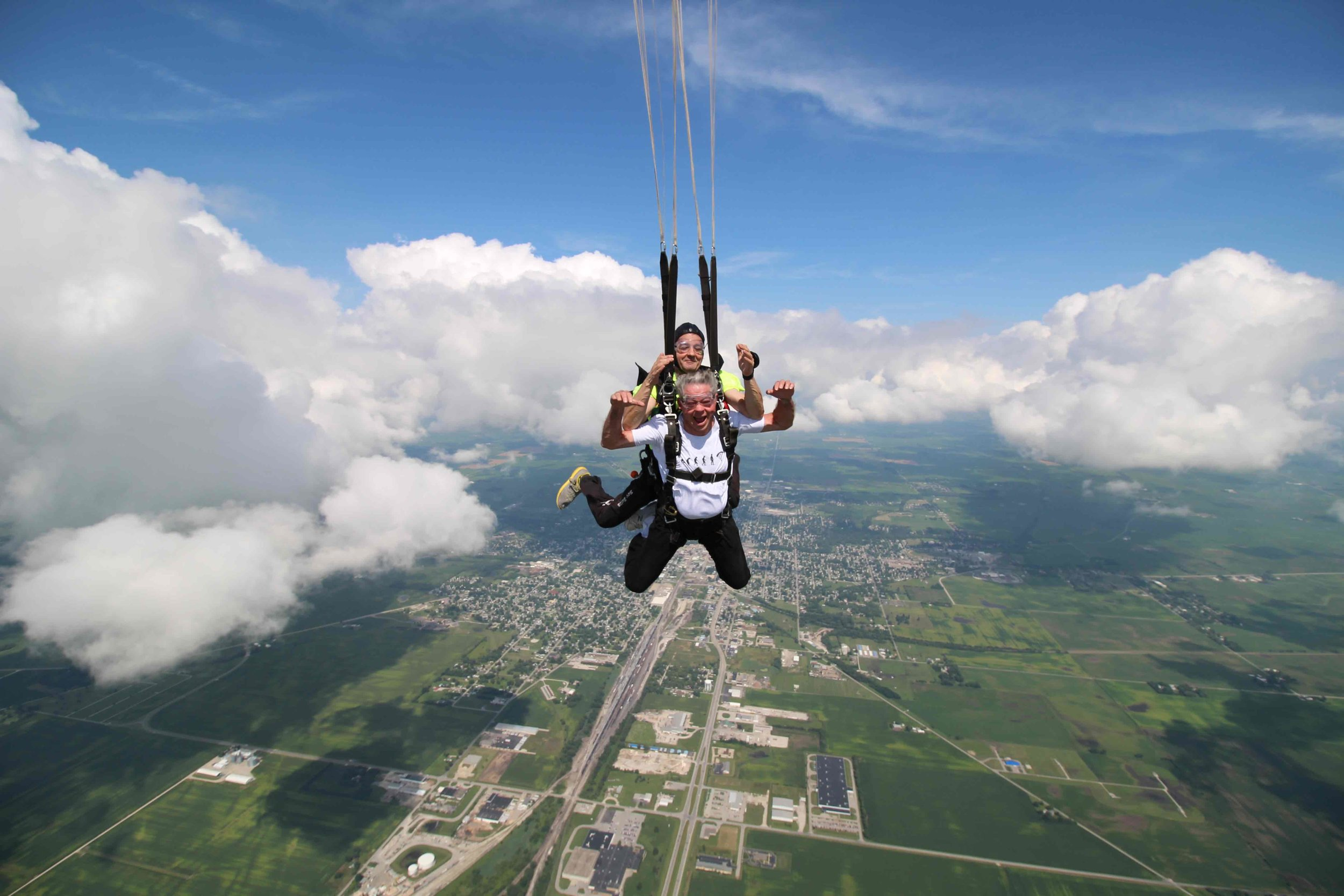 As your parachute opens, you'll feel a bungee-like sensation