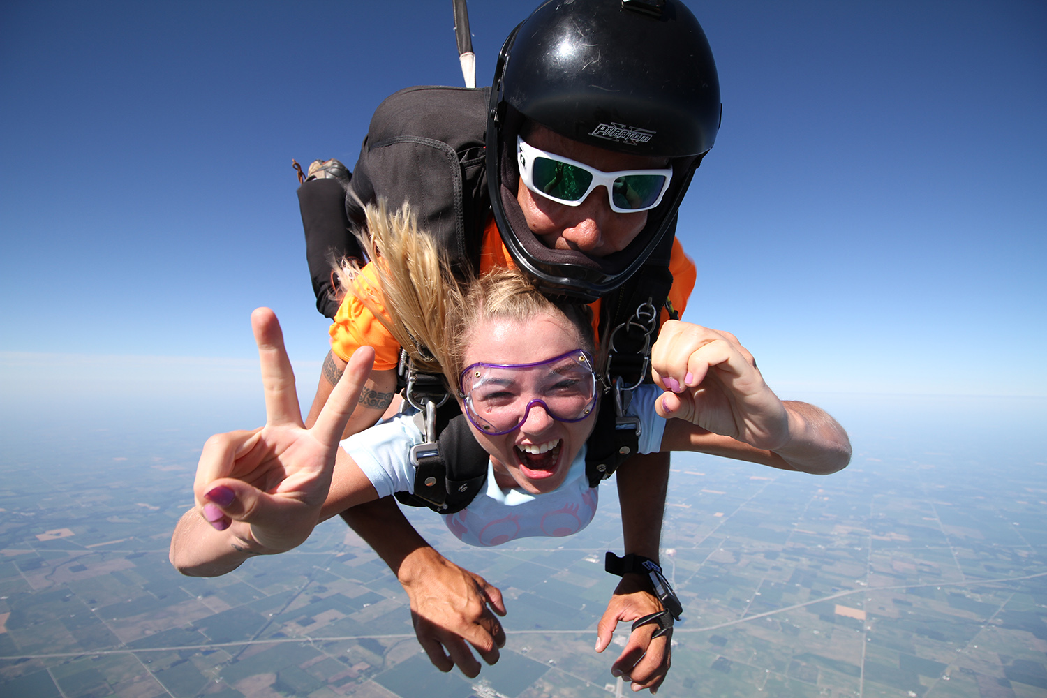 Peace, it's tandem skydive time