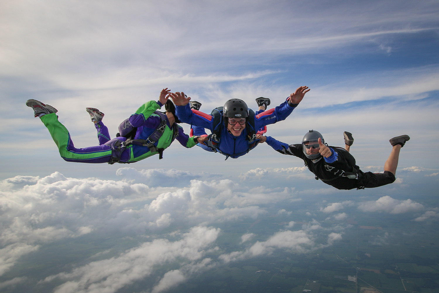Learn to skydive solo thru AFF