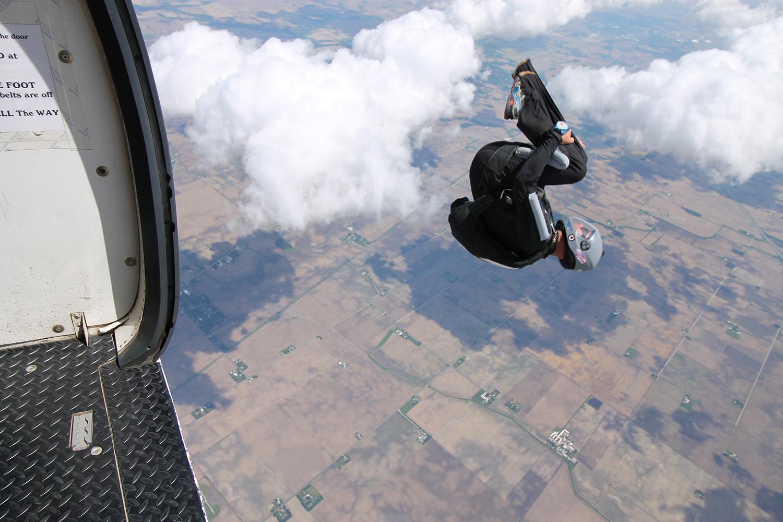 Fun jumper flips into the skies