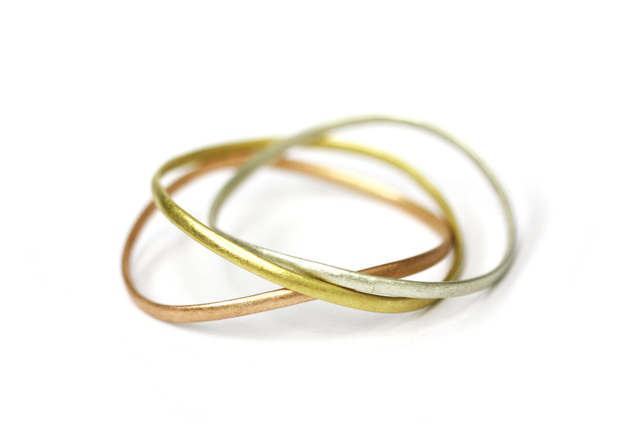 Gold Curve Bangles