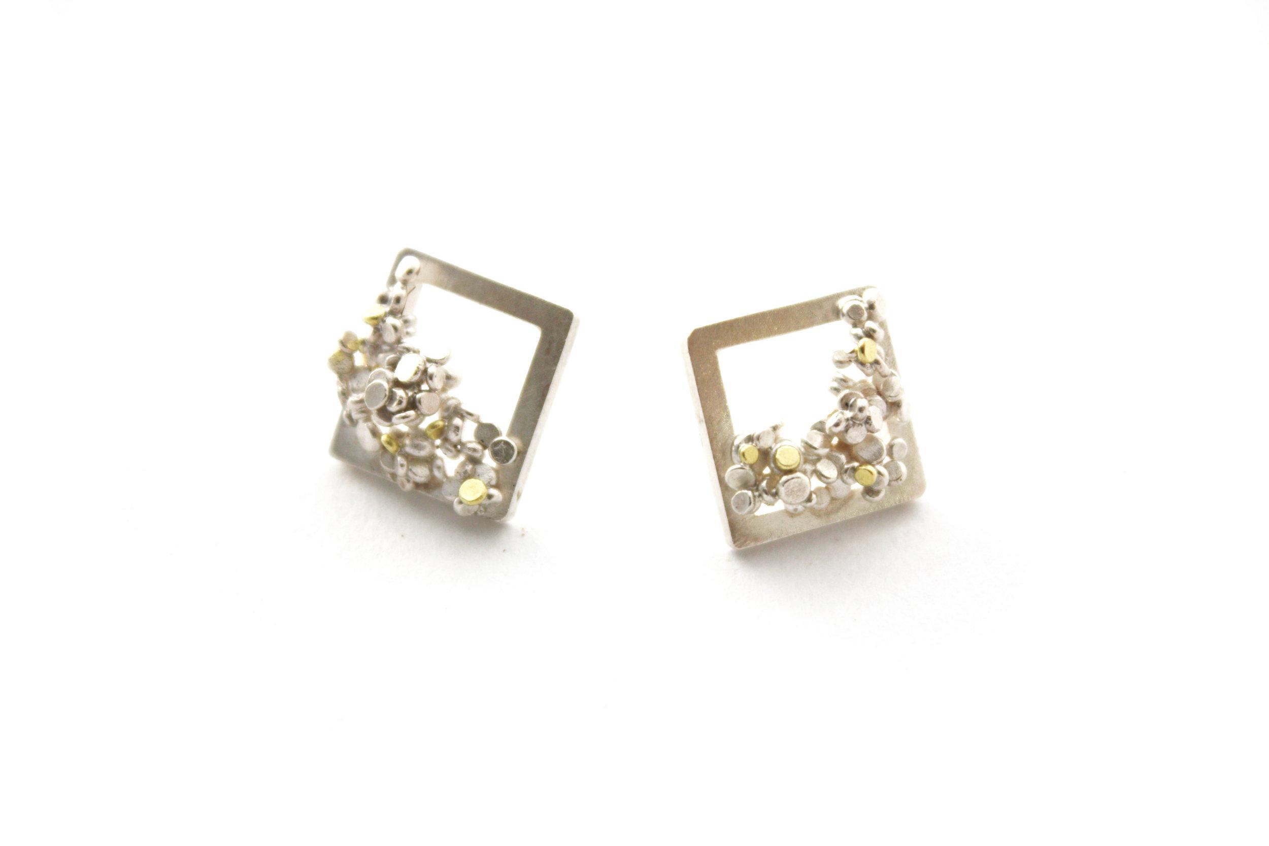 Speckle Frame Earrings