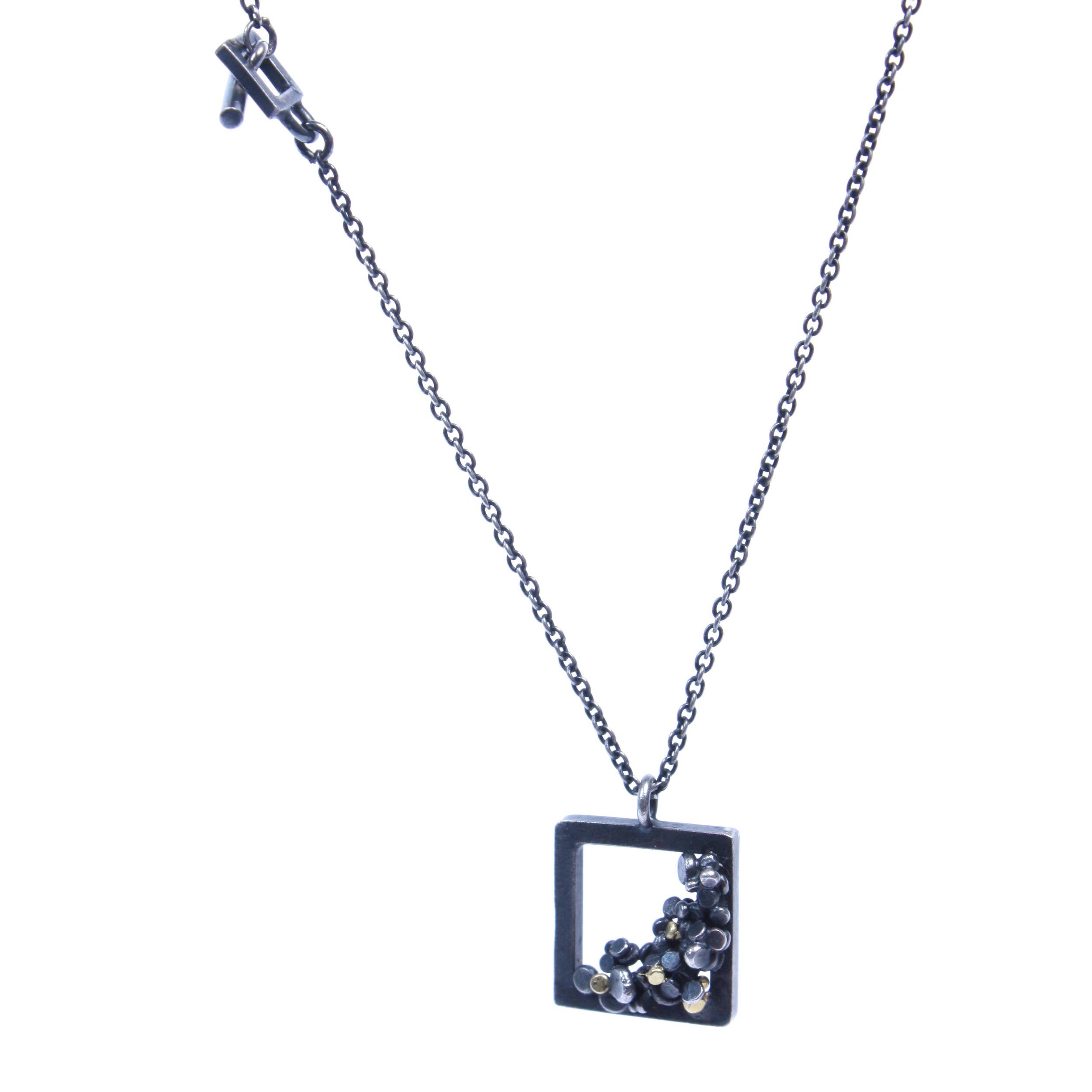 Speckle Square Frame Necklace