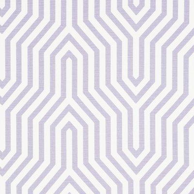 Schumacher Vanderbilt Print Lavender Fabric
