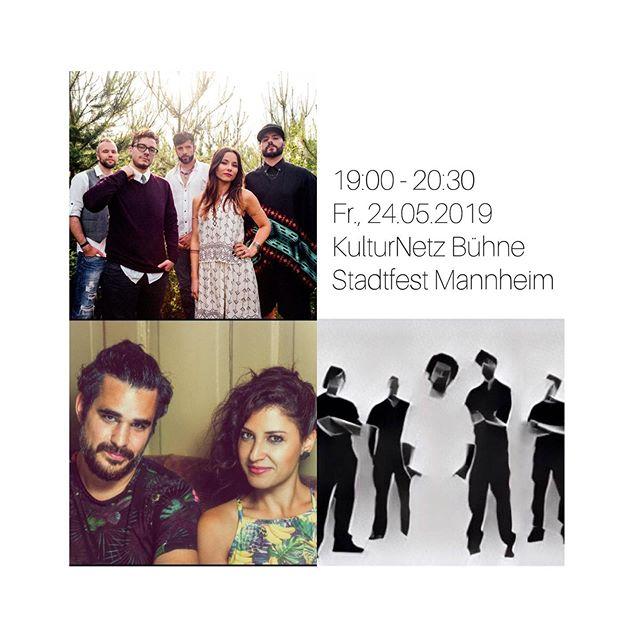 HEUTE 🙌🏽 Stadtfest Mannheim | 24.05.2019 | 19:00 - 20:30 | KulturNetz Bühne @entremundos_music @claravalenteoficial @aeranoid
