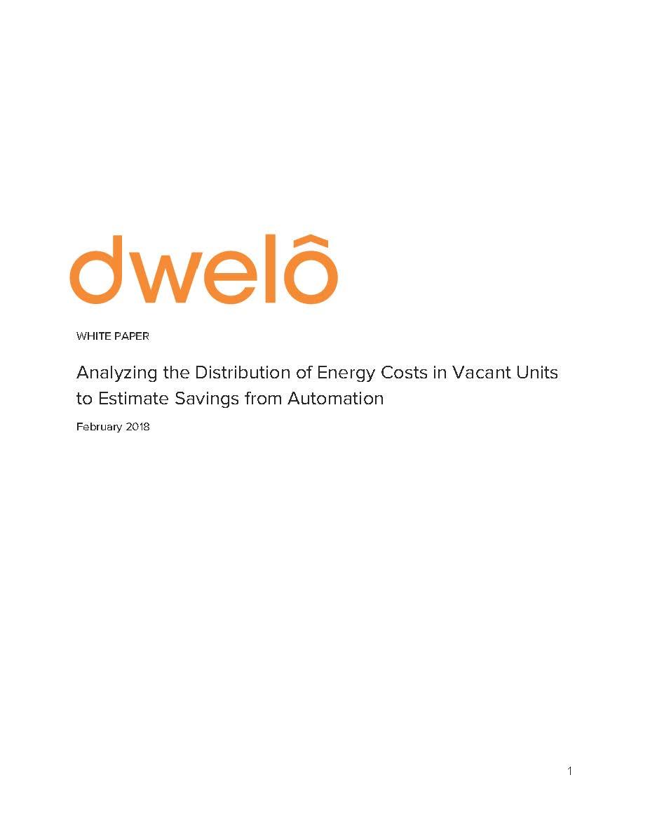 Dwelo Vacant Unit Energy Savings