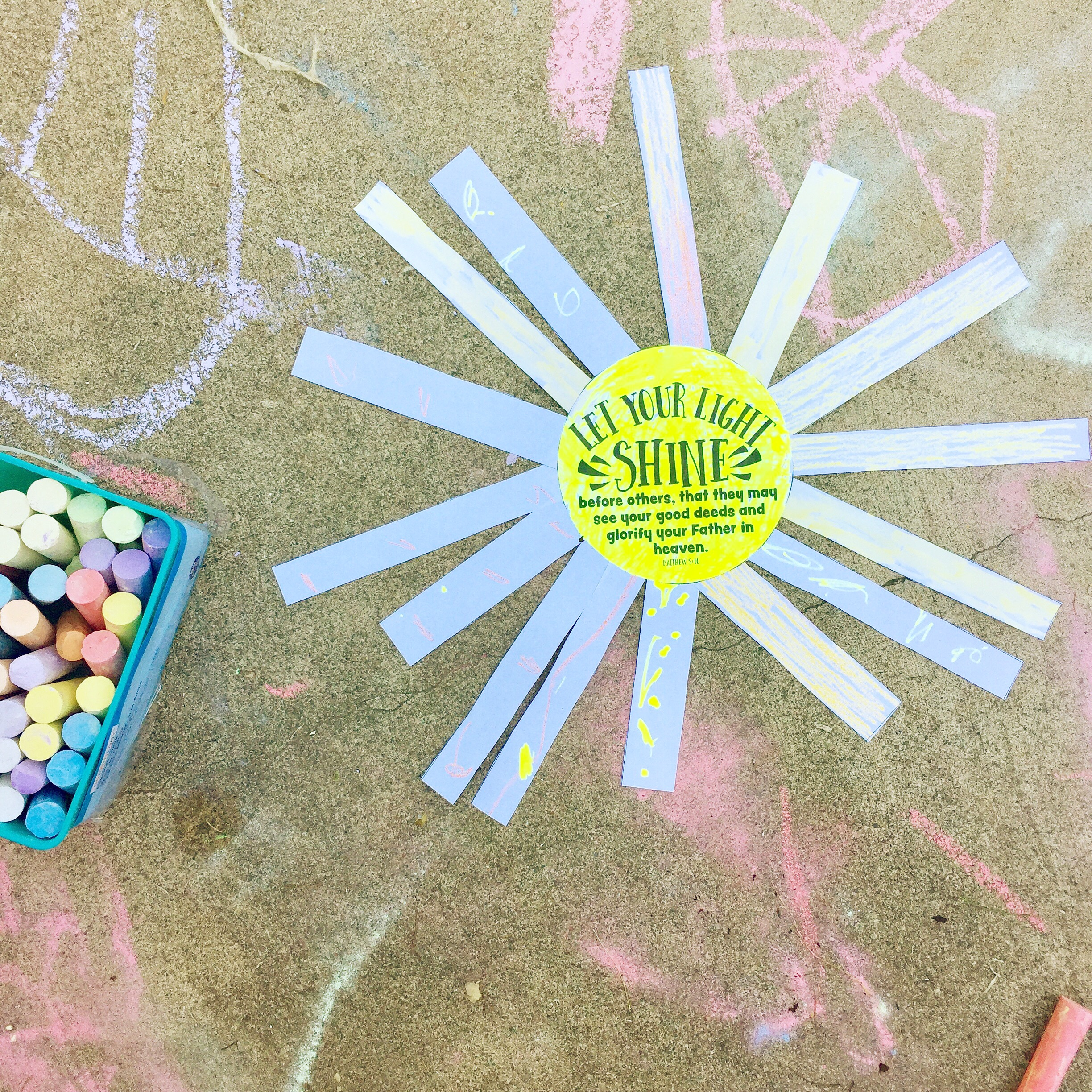Let your light shine pRINTABLE - Make a paper sun printable craft