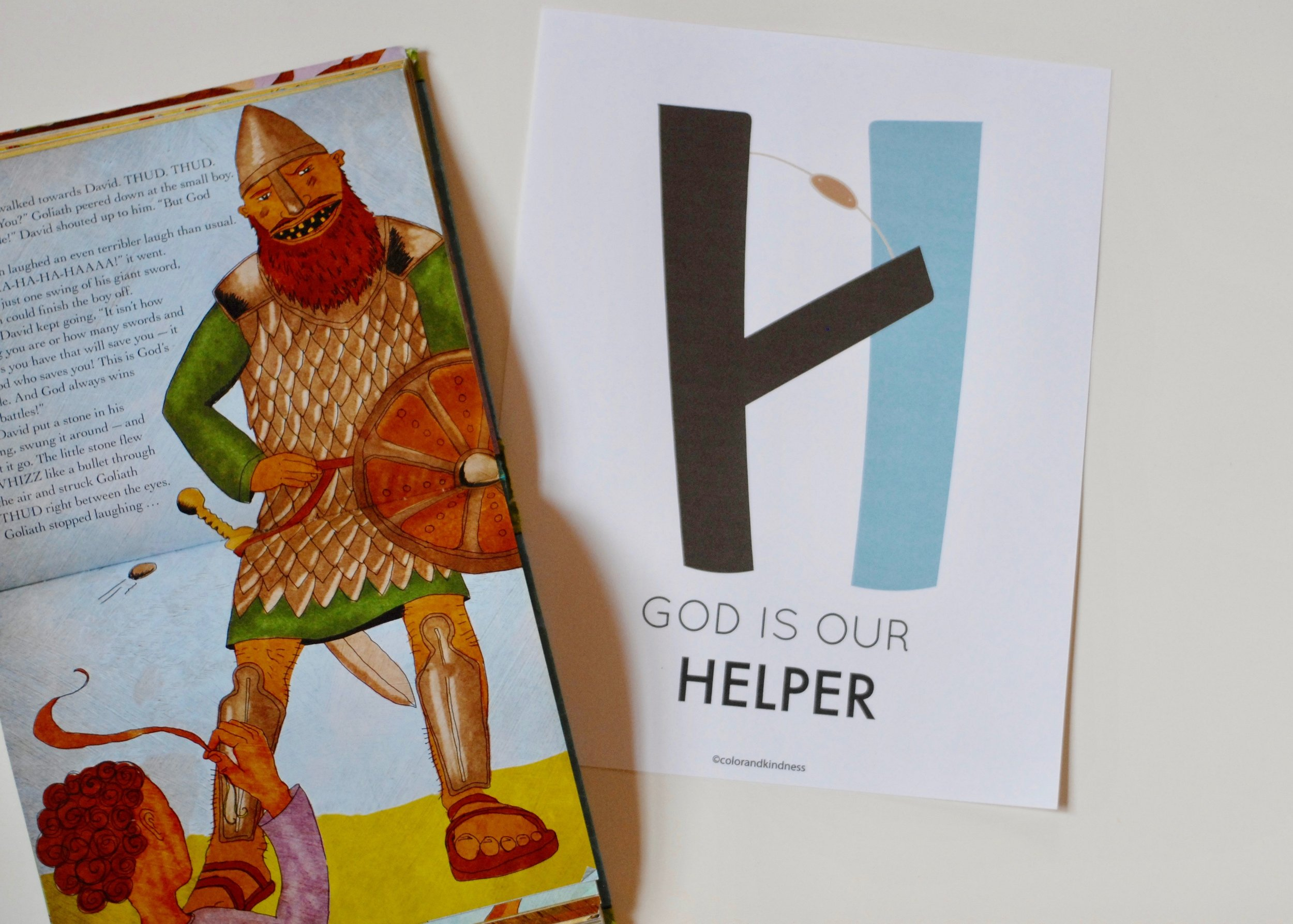 letter H Color and Kindness