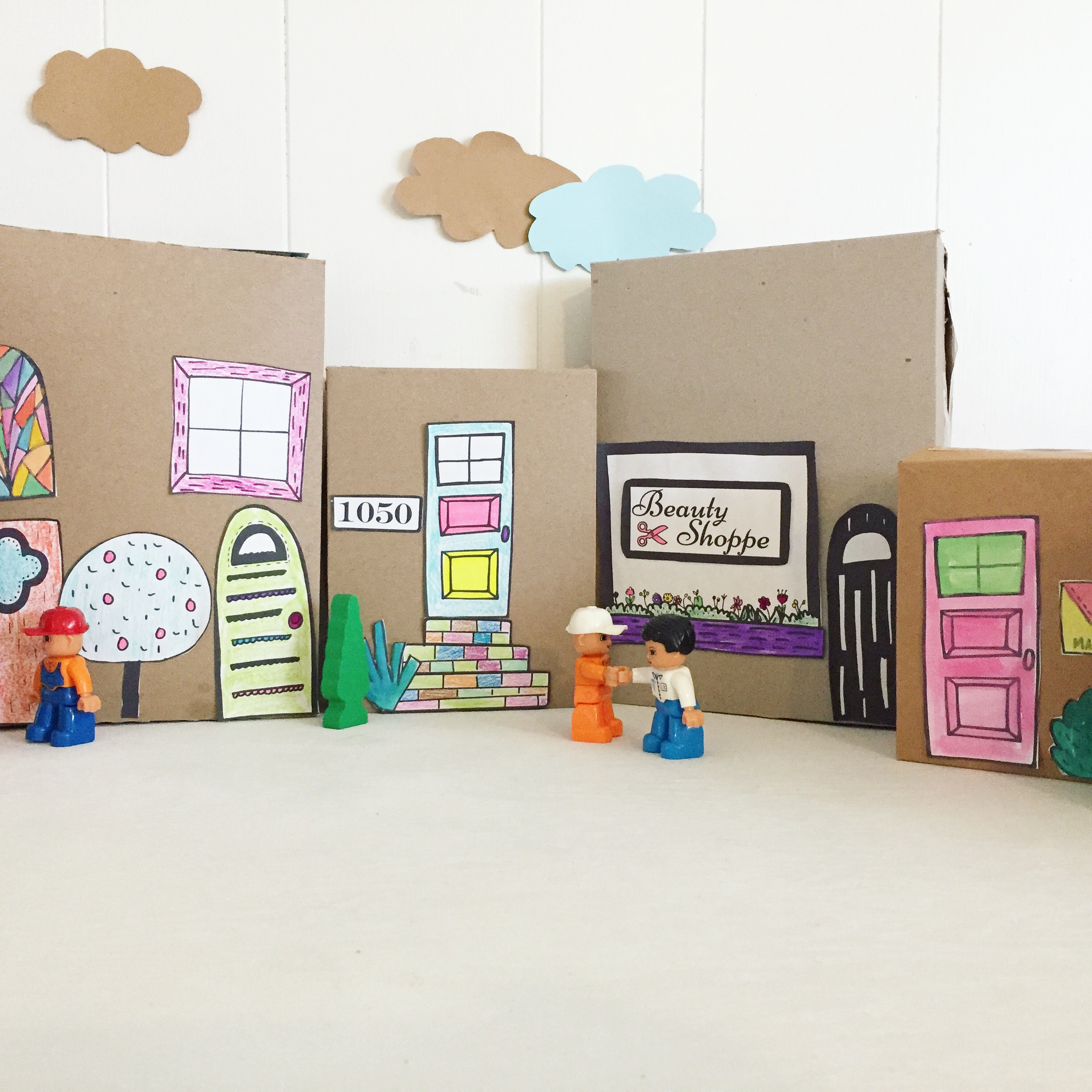 paper town illustrations