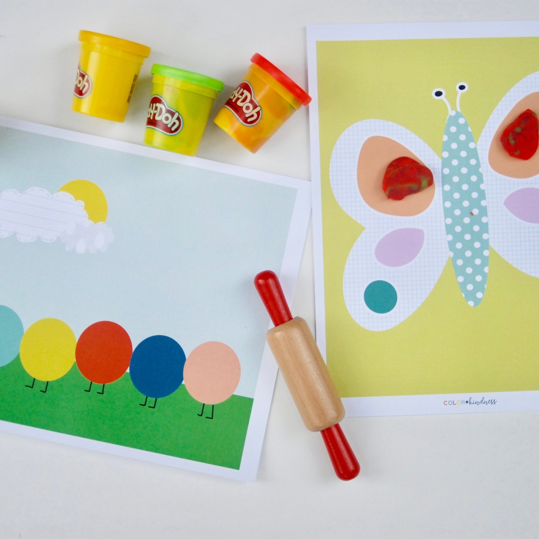 cute craft mats - Hands-on fun with butterflies and caterpillars