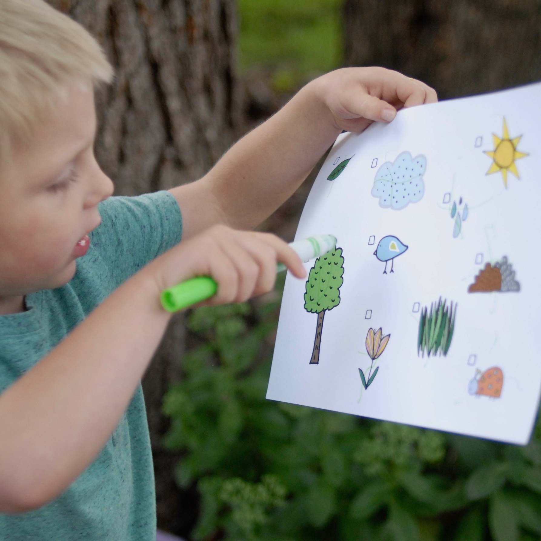 Nature hunt printable - Explore God's creation!