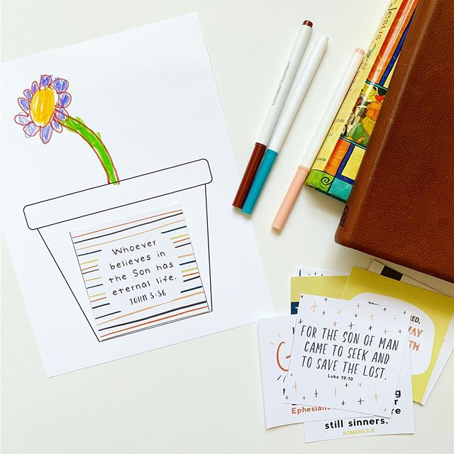 "This weekend, 4 new sets of scripture seeds designed for kids (and big kids too 😜) will be released 🎉🎉🎉 There's also this cute little planter printable included so your kids can ""plant"" their scripture seed, and when they've learned in, they can draw in a plant or flower 🌸 🌿 Ps. There will be an extra discount sent out to our email friends, so be sure you're on that list (you can sign up through the link in the profile)👍🏻 #colorandkindness #scriptureseeds #planttruth #bibkeforkids #memoryverses #teachthemyoung #scripturecards #biblecards #gospeltruth #gospelforkids"