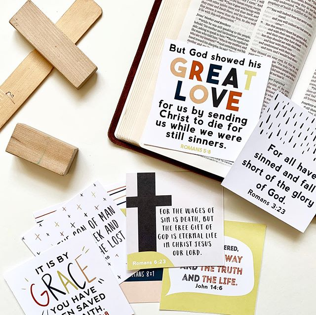 Did you see that the new scripture seeds are here!? They were so fun to create + we'll be popping them into our morning basket to work on memorizing together ❤️ How would you use yours? Ps. They are on sale too 🙌🏼 #colorandkindness #scriptureseeds #scriptureseedsforkids #gospelverses #morningbasket #morningbasketideas #familydevotions #grace #gospelforkids #gospel #feedcreatively