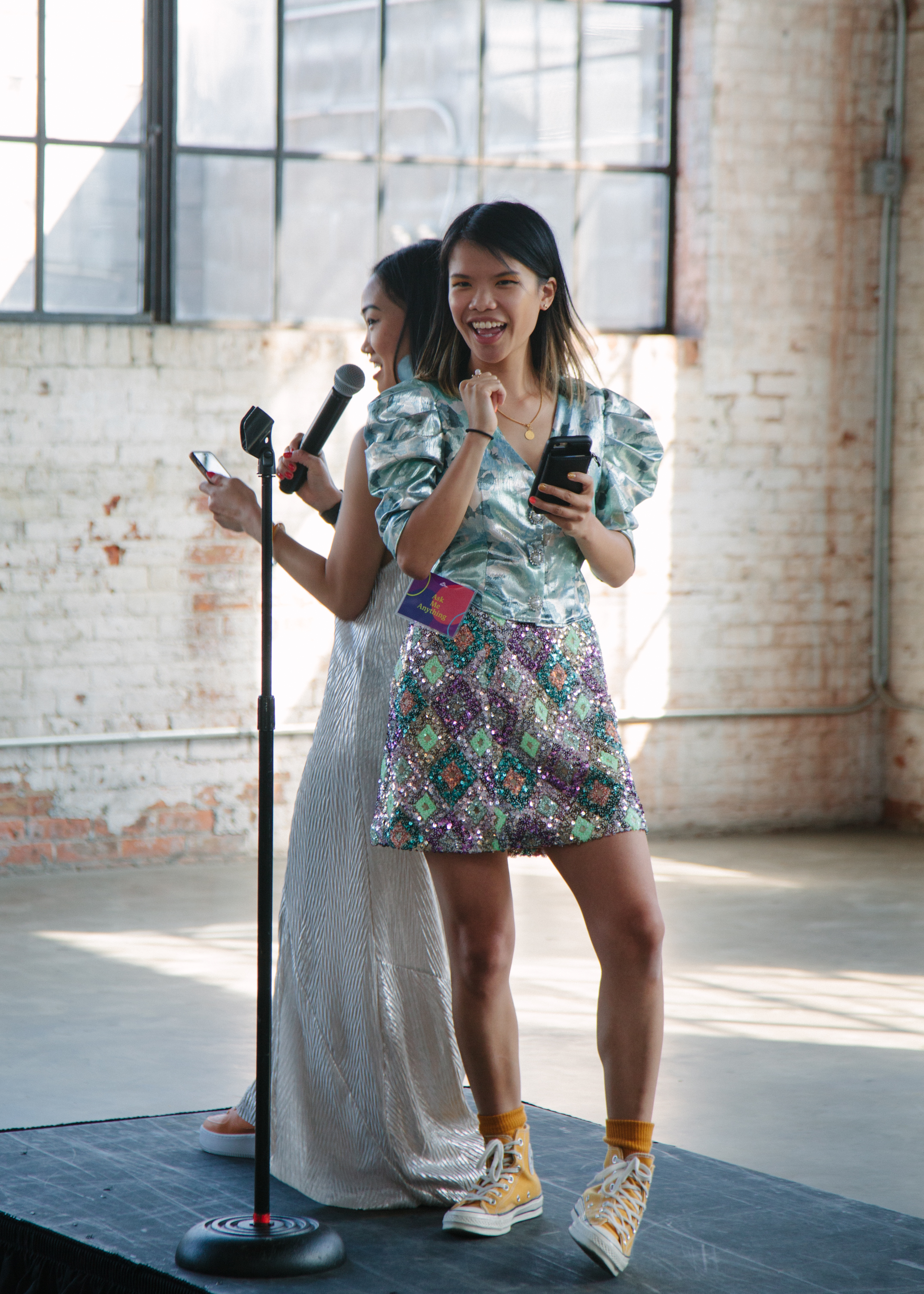 Cassandra Lam & Karen Mok led our Opening Reflection. Photography by  Kristie Chua .