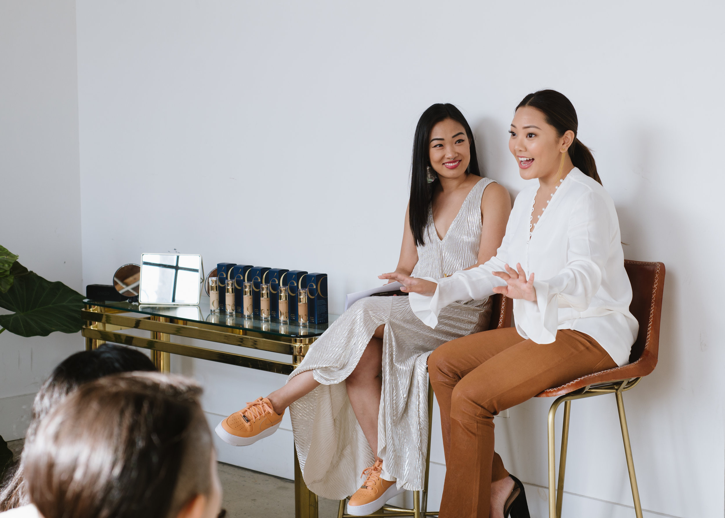 Cassandra Lam & Yu-Chen Shih at the VIP Breakfast fireside chat. Photography by  Kristie Chua .