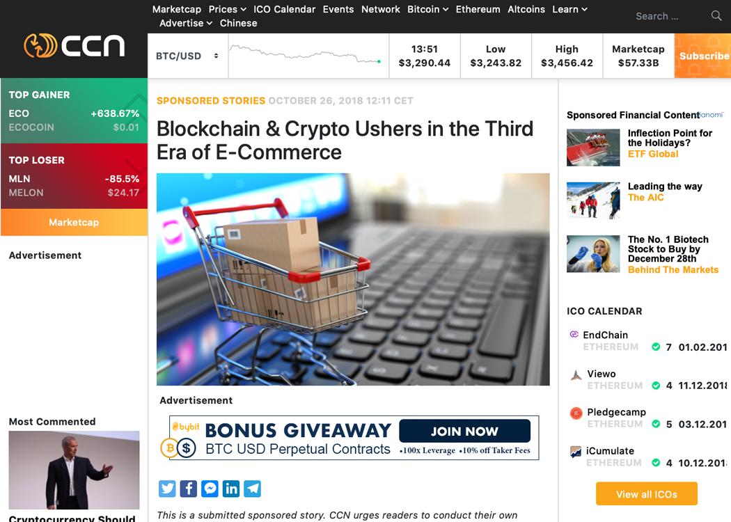 Blockchain & Crypto Ushers in the Third Era of E-Commerce